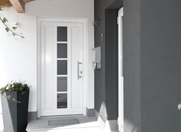 porte d'entrée bois alu