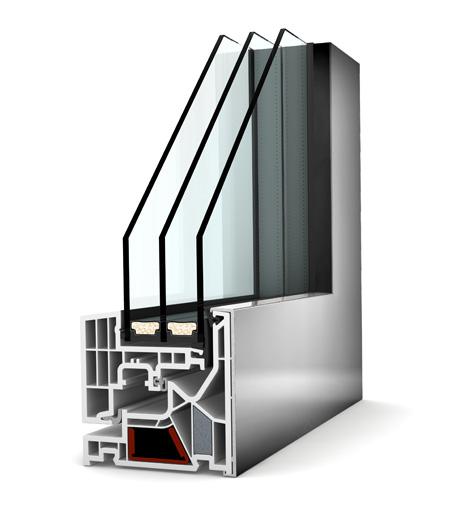 Internorm fenêtre KV405 PVC alu